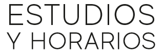 Estudios y Horarios
